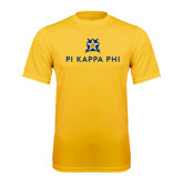Syntrel Performance Gold Tee-Pi Kappa Phi Stacked