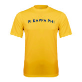 Performance Gold Tee-Arched Pi Kappa Phi