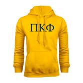 Gold Fleece Hoodie-Greek Letters