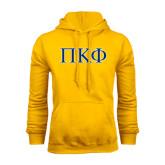 Gold Fleece Hoodie-Greek Letters - 2 Color