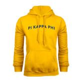 Gold Fleece Hoodie-Arched Pi Kappa Phi