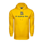 Under Armour Gold Performance Sweats Team Hoodie-Pi Kappa Phi Stacked
