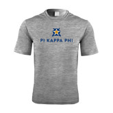 Performance Grey Heather Contender Tee-Pi Kappa Phi Stacked