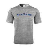 Performance Grey Heather Contender Tee-Arched Pi Kappa Phi