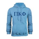 Light Blue Fleece Hoodie-Greek Letters