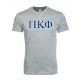 Next Level SoftStyle Heather Grey T Shirt-Greek Letters - 2 Color