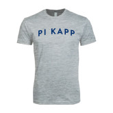 Next Level SoftStyle Heather Grey T Shirt-Arched Pi Kapp