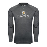 Under Armour Carbon Heather Long Sleeve Tech Tee-Pi Kappa Phi Stacked