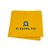 Gold Sweatshirt Blanket-Pi Kappa Phi Stacked