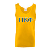 Gold Tank Top-Greek Letters - 2 Color