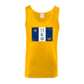 Gold Tank Top-Flag Distressed