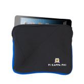 Neoprene Black w/Royal Trim Zippered Tablet Sleeve-Pi Kappa Phi Stacked