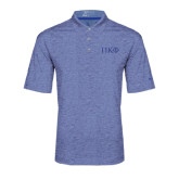 Nike Golf Dri Fit Royal Heather Polo-Greek Letters Tone