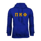 Royal Fleece Hoodie-Greek Letters Tackle Twill