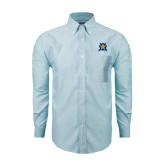 Mens Light Blue Oxford Long Sleeve Shirt-Star