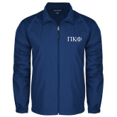 Full Zip Royal Wind Jacket-Greek Letters