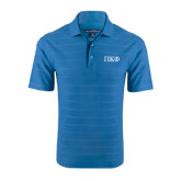Sapphire Blue Horizontal Textured Polo-Greek Letters