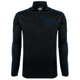 Nike Golf Dri Fit 1/2 Zip Black/Royal Cover Up-Greek Letters Tone
