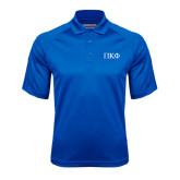 Royal Textured Saddle Shoulder Polo-Greek Letters