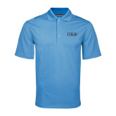 Light Blue Mini Stripe Polo-Greek Letters - 2 Color