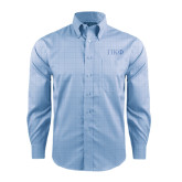 Red House Light Blue Plaid Long Sleeve Shirt-Greek Letters Tone