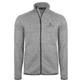 Grey Heather Fleece Jacket-Pi Kappa Phi Stacked