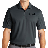 Nike Golf Dri Fit Charcoal Micro Pique Polo-Greek Letters Tone