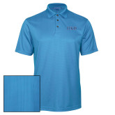 Light Blue Performance Fine Jacquard Polo-Greek Letters - 2 Color