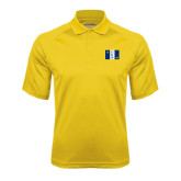 Gold Textured Saddle Shoulder Polo-Greek Letters