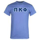 Arctic Blue T Shirt-Greek Letters Tackle Twill