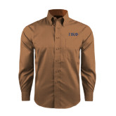 Red House Tan Long Sleeve Shirt-Greek Letters