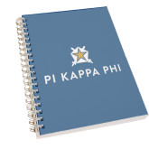 Clear 7 x 10 Spiral Journal Notebook-Pi Kappa Phi Stacked