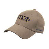 Khaki Heavyweight Twill Pro Style Hat-Greek Letters - 2 Color