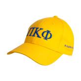 Gold Heavyweight Twill Pro Style Hat-Greek Letters