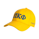 Gold Heavyweight Twill Pro Style Hat-Greek Letters - 2 Color