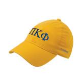 Gold Flexfit Mid Profile Hat-Greek Letters