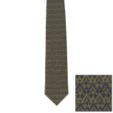 Traditional Silk Tie-Pi Kappa Phi Argyle Patterned Neck Tie