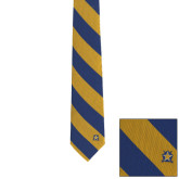 Traditional Silk Tie-Blue and Gold Striped Neck Tie