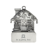 Pewter House Ornament-Pi Kappa Phi Stacked Engraved