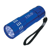 Industrial Triple LED Blue Flashlight-Greek Letters Engraved