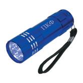 Industrial Triple LED Blue Flashlight-Greek Letters Engraved