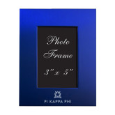 Royal Brushed Aluminum 3 x 5 Photo Frame-Pi Kappa Phi Stacked Engraved