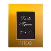Gold Brushed Aluminum 3 x 5 Photo Frame-Greek Letters Engraved