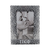 Silver Textured 4 x 6 Photo Frame-Greek Letters Engraved