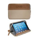 Field & Co. Brown 7 inch Tablet Sleeve-Greek Letters Engraved