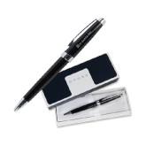 Cross Aventura Onyx Black Ballpoint Pen-Pi Kappa Phi Flat Engraved
