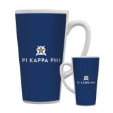 Full Color Latte Mug 17oz-Pi Kappa Phi Stacked