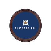 Round Coaster Frame w/Insert-Pi Kappa Phi Stacked