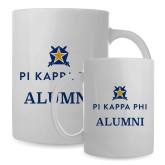 Alumni Full Color White Mug 15oz-Alumni - Pi Kappa Phi Stacked