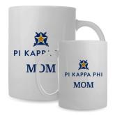 Mom Full Color White Mug 15oz-Mom - Pi Kappa Phi Stacked